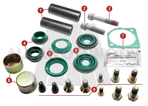 2122 - Caliper Guides and Bushes Repair Kit