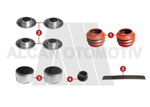 5019 - Caliper Boot and Cap Set