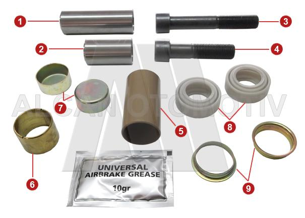 2008 - Caliper Guide and Seals Repair Kit (Rear)