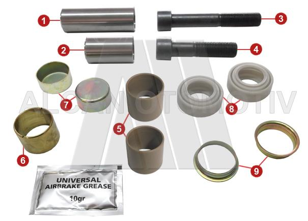 2105 - Caliper Guide and Seals Repair Kit (Rear)