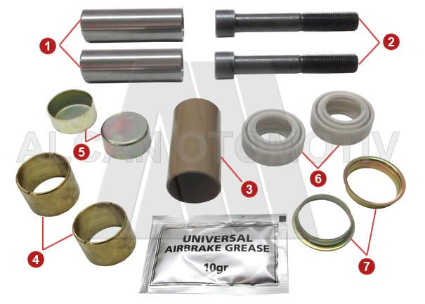 2007 - Caliper Guide and Seals Repair Kit (Front)