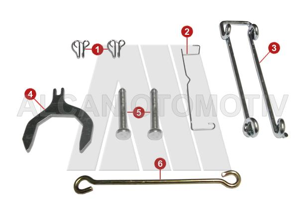 6020 - Caliper Pat Retainer Repair Kit