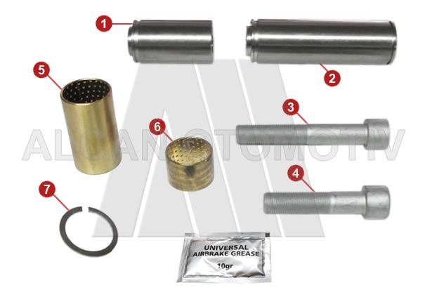 7004 - Caliper Guides and Bushes Repair Kit