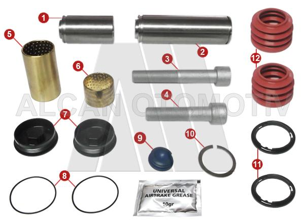 7005 - Caliper Guides and Bushes Repair Kit