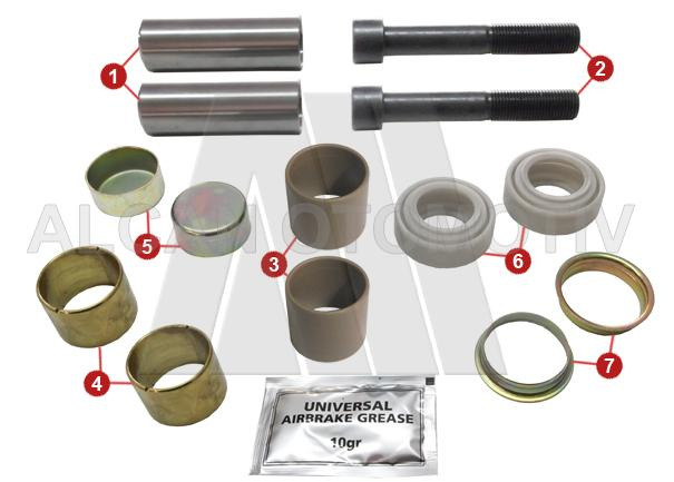 2106 - Caliper Guide and Seals Repair Kit (Front)