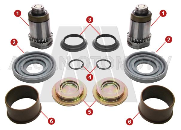 2060 - Caliper Adjusting Tappet Repair Kit (Left)