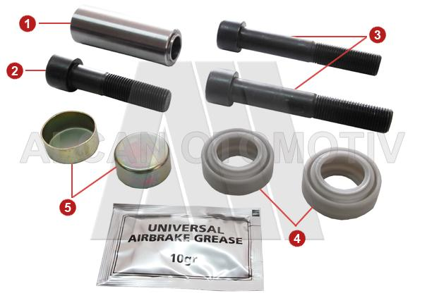 2049 - Caliper Guide and Dust Cover Repair Kit