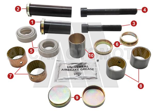 2029 - Caliper Guides and Bushes Repair Kit